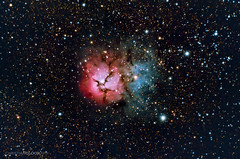 M20 - The Trifid nebula (Christian Gloor (mostly) underwater photographer) Tags: m20 trifid nebula dso deepsky deep sky night astro astrophotography