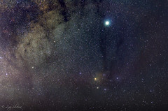 Rho Ophiuchi region (Luiz Ricardo Silveira) Tags: astro astrophotography astrofotografia astronomia milkyway nikond5000 nikon d5000 50mm18 nikkor50mm18g