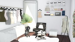 (mooddecor) Tags: second life sl onsu fancy decor apple fall westwoo westwood west wood village modern newyork soho skybox apartment formal living interior design decorator decorating ltd love decorate sayo soy loft aria nice n4rs monochrome monochromatic netural nudes blacks whites