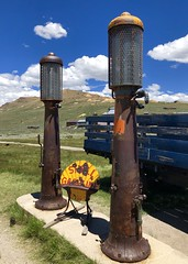 Bodie Gas - Road Trip 2019 (ToGa Wanderings) Tags: california road old trip travel summer vacation history gold town highway ghost shell gas pump american rush rusted bodie sierras eastern 395 decay arrested