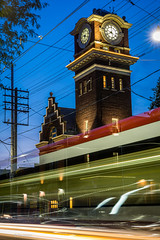 A streetcar passes by old Fire Station #17 - The Beaches, Toronto (Phil Marion (173 million views - THANKS)) Tags: canon5diii 5d3 canon toronto canada candid architecture street portrait landscape wildlife nature explored bird urban flowers macro insect sony nikon fuji longexposure ontario phil marion philmarion philippemarion upskirt