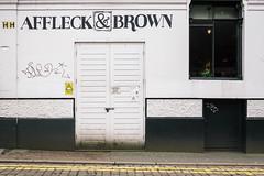 Hilton Street 166130 (Peter.Bartlett) Tags: manchester unitedkingdom city graffiti colour peterbartlett doubleyellowlines urban uk m43 microfourthirds vsco fuji160semulation wall sign olympuspenf facade door england