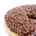Chocolate Donut closeup above white background