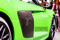 "Green Audi R8 V10 plus with carbon door at IAA with picture title ""Internationale Automobil Ausstellung"" (verchmarco) Tags: automobil tuning trends räder r8v10plus frankfurtammain carbon weltpremieren audi automobiljahres weltpremiere auto carit technologie autoteile fahrer neu iaa messe sonderkraftwagen innovationen automobilmesse personenkraftwagen pkw ausstellung elektromobilität megatrend modellautos highlights motto automesse welt kraftfahrzeuge aussteller mobilitätsmesse iaamesse tür weltweit international präsentation owl maitreya child countryside spain ciel macromondays pet cielo eos"