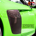 Green Audi R8 V10 plus with carbon door at IAA with picture title