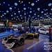 Futuristischer Formel-1 Rennwagen R.S. 2027 Vision von Renault, im Scheinwerferlicht auf der IAA - Internationale Automobil Ausstellung