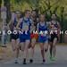 Men's running group jogging at Cologne Marathon in Germany