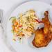 Fried Chicken Drumstick with vitamin salad