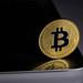 Golden shiny Bitcoin