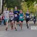 Spectators cheering on the marathon participants during the RheinEnergie Marathon Cologne
