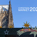 Christmas market 2020 at cologne cathedral in Germany, with Christmas decoration and shining stars
