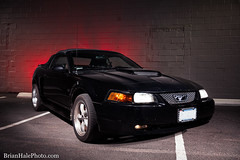 something different (Brian M Hale) Tags: ford mustang muscle car barebulb bare bulb flash night brian hale brianhalephoto