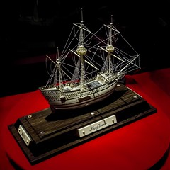 Mayflower In Miniature (Wes Iversen) Tags: davidwarther davidwarthercarvings mayflower nikkor18300mm ohio sugarcreek boats carvings intricate ivory replica ships square wood