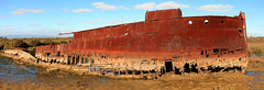 Wreck of The Excelsior Pano (Darren Schiller) Tags: excelsior shipwreck abandoned muttoncove outerharbour rusty panorama boat ship steel australia southaustralia portadelaide derelict disused decaying deserted dilapidated history heritage industrial iron maritime old transport wreck