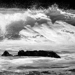 Ghost in love... (Sabine-Barras) Tags: réunion monochrome blackandwhite bnw bw waves vagues wind vent water eau ocean océan sea mer waterscape