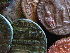 roman coins (papazachariasa) Tags: roman coins copper old rusty rome macro ancient