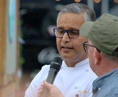 Celeb Chef Atul Kochhar at Warwick (Tony Worrall) Tags: warwick stage event show man asian cook chef celeb pubinthepark atulkochhar cooking indian update place location uk england visit area attraction open stream tour country item greatbritain britain english british gb capture buy stock sell sale outside outdoors caught photo shoot shot picture captured ilobsterit instragram midlands