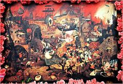 """""""Dulle Griet (Margot l'enragée)"""" Pieter Brueghel l'Ancien, Toile exposée au Museum Mayer Van Den Bergh à,Anvers, reproduction au Château de Grand-Bigard, Dilbeek, Brabant flamand, Belgium (claude lina) Tags: claudelina belgium belgique belgië grandbigard brabantflamand floraliabrussels tableau peinture oeuvre pieterbrueghellancien reproduction dullegriet margotlenragée"""
