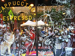 Cafe windows (DannyAbe) Tags: cafe windows rochester glass reflections