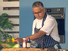 Celeb Chef Atul Kochhar at Warwick (Tony Worrall) Tags: warwick stage event show man asian cook chef celeb pubinthepark atulkochhar cooking indian update place location uk england visit area attraction open stream tour country item greatbritain britain english british gb capture buy stock sell sale outside outdoors caught photo shoot shot picture captured ilobsterit instragram