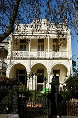 Victorian facade with lacework verandah, Armadale (Joe Lewit) Tags: variosonnart28163 armadale melbourne terraces streetscape castironlacework