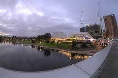IMGP6142 (Ian Luc) Tags: longexposure adelaide footbridge adelaideoval morning sunrise pentaxk50 fisheye