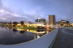 IMGP6121 (Ian Luc) Tags: longexposure adelaide footbridge adelaideoval morning sunrise pentaxk50 fisheye