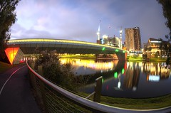 IMGP6112 (Ian Luc) Tags: longexposure adelaide footbridge adelaideoval morning sunrise pentaxk50 fisheye