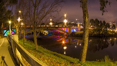 IMGP6085 (Ian Luc) Tags: longexposure adelaide footbridge adelaideoval morning sunrise pentaxk50 fisheye