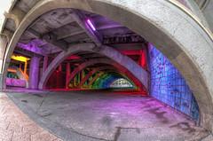 IMGP6166- (Ian Luc) Tags: longexposure adelaide footbridge adelaideoval morning sunrise pentaxk50 fisheye