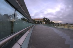 IMGP6136 (Ian Luc) Tags: longexposure adelaide footbridge adelaideoval morning sunrise pentaxk50 fisheye