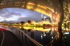 IMGP6106 (Ian Luc) Tags: longexposure adelaide footbridge adelaideoval morning sunrise pentaxk50 fisheye