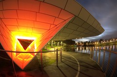 IMGP6097 (Ian Luc) Tags: longexposure adelaide footbridge adelaideoval morning sunrise pentaxk50 fisheye