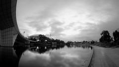 IMGP6148= (Ian Luc) Tags: longexposure adelaide footbridge adelaideoval morning sunrise pentaxk50 fisheye