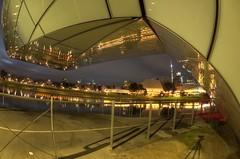 IMGP6094 (Ian Luc) Tags: longexposure adelaide footbridge adelaideoval morning sunrise pentaxk50 fisheye