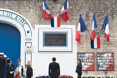 2019-06-05 Normandie, Cérémonie d'hommage aux fusillés de la prison de Caen - NON UTILISABLE PAR LA PRESSE - (Elysée - Présidence de la République) Tags: 5juin2019 caen cérémonie emmanuelmacron hommage fusillés prison