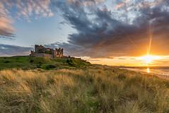 Bamburgh Castle (Explored) (Dibbly Dobbler) Tags: bamburgh castle sunset dunes sonya7rii 1635 f4