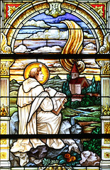 Tongue of Fire (Lawrence OP) Tags: stainedglass seignadou stdominic holyspirit fire general chapter