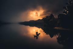 On the Li River (Airpixelsmedia) Tags: riverbank guilin china landscape nature adventure explore fisherman sunrise mood mist fog cormorant aerial drone airpixels