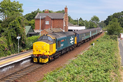 37407 Lingwood 5th July 2019 (John Eyres) Tags: 37407 tnt 37419 stop lingwood with 2p21 great yarmouth norwich 050719