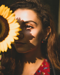 09/2018 (Alexandra A.K.) Tags: girl flower sunflower sunset beauty look sun autumn evening shadow
