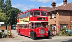 557 BNG, Eastern Counties Bristol FL6B LFL57, East Anglian Transport Museum, Carlton Colville, 7th. July 2019. (Crewcastrian) Tags: lowestoft carltoncolville buses transport eastangliantransportmuseum easterncountiesomnibuscompany bristol lodekka fl6b ecw 557bng lfl57