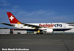 Balair CTA A310-325/ET HB-IPM (planepixbyrob) Tags: balair balaircta swiss airbus a310 hbipm zrh zurich kloten retro kodachrome