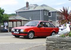 1981 Ford Escort 1600 (occama) Tags: pru121w 1981 ford escort 1600 red ghia old car cornwall uk british