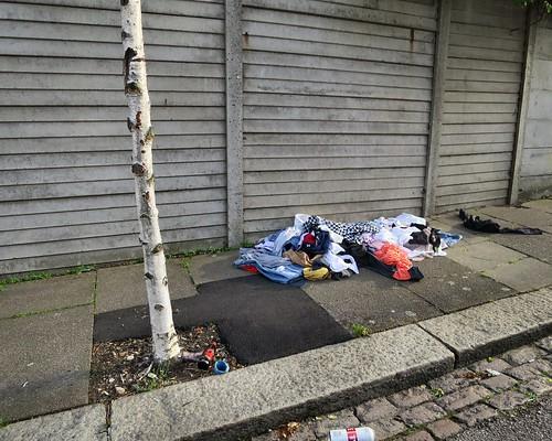 Eve Road dumped clothes