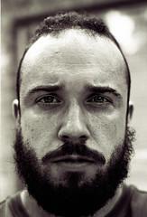 Self Portrait 2 (Nick Petropoulos) Tags: contaxrtsii zeisscontax50mm14planarae trix kodak xtol plustek7600i blackandwhite hoyagreencontrastfilter selfportrait selfie
