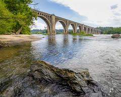 (adamwilliams4405) Tags: richmond rva bridges water river rocks leaves trees sky canon outside explore virginia summer tones