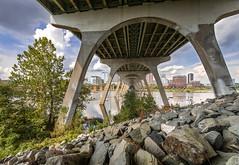 (adamwilliams4405) Tags: richmond rva bridges water river canon virginia rocks sky clouds outside explore urban city tones summer