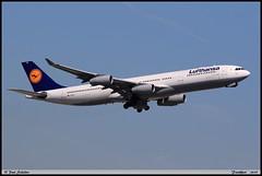 AIRBUS A340 313 Lufthansa D-AIGM 0158 Frankfurt juin 2019 (paulschaller67) Tags: airbus a340 313 lufthansa daigm 0158 frankfurt juin 2019