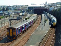 150234, 150219 & 802107 Penzance (Marky7890) Tags: 150246 150219 class150 sprinter 2c47 gwr 802107 class802 iet 1p96 penzance railway cornwall cornishmainline train